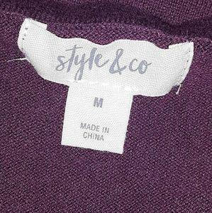 Style & Co Sweaters - Style & Co   Lace Hem Tunic Sweater